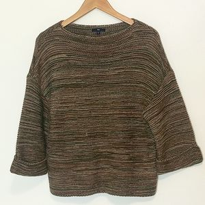 GAP Three Quarter Length Sleeve Knit Sweater